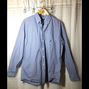 Nautica Men's Button up Long Sleeve Shirt Size XL